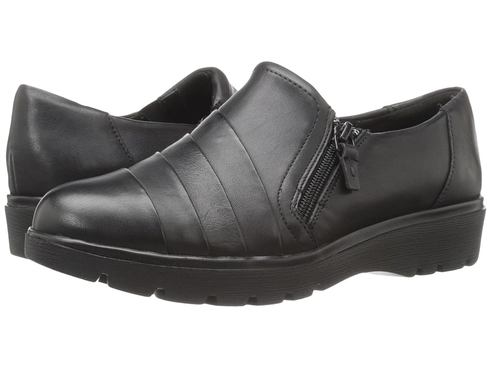 Easy Spirit - Oakhill (Black Leather) Women's Shoes