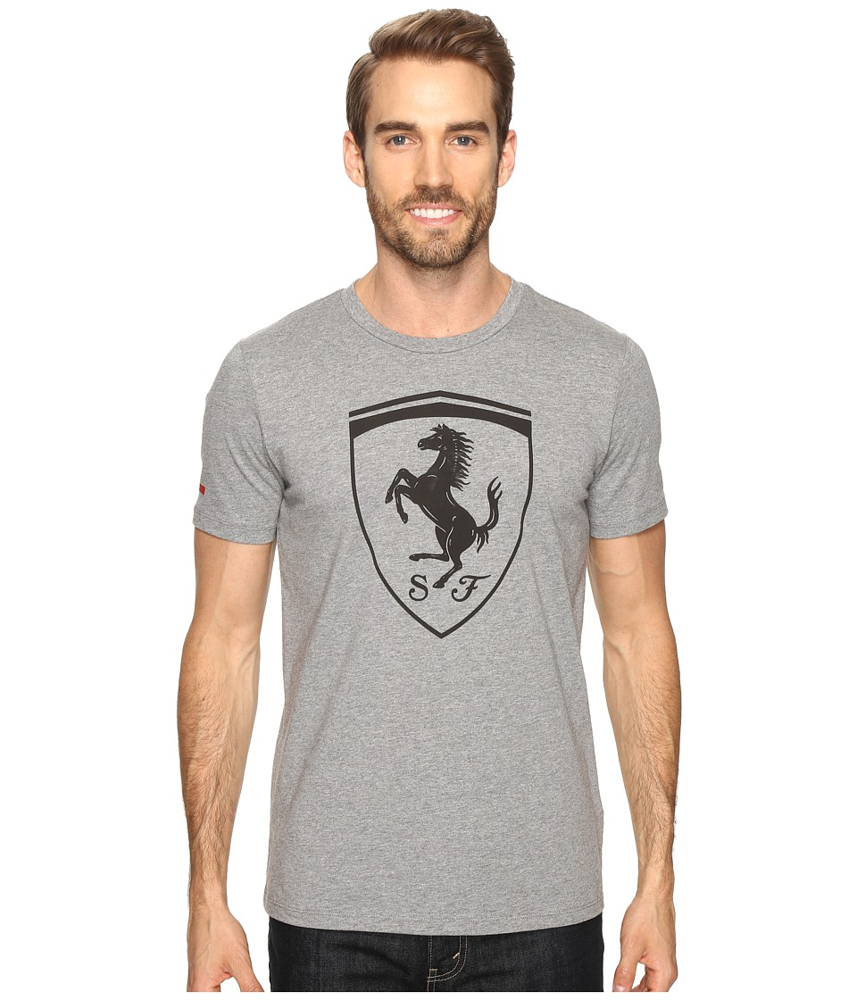 PUMA - Ferrari Big Shield Tee (Medium Gray Heather) Men's T Shirt