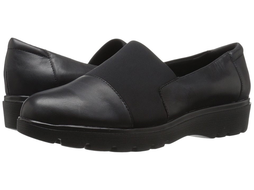 Easy Spirit - Oreen (Black/Black Leather) Women's Shoes