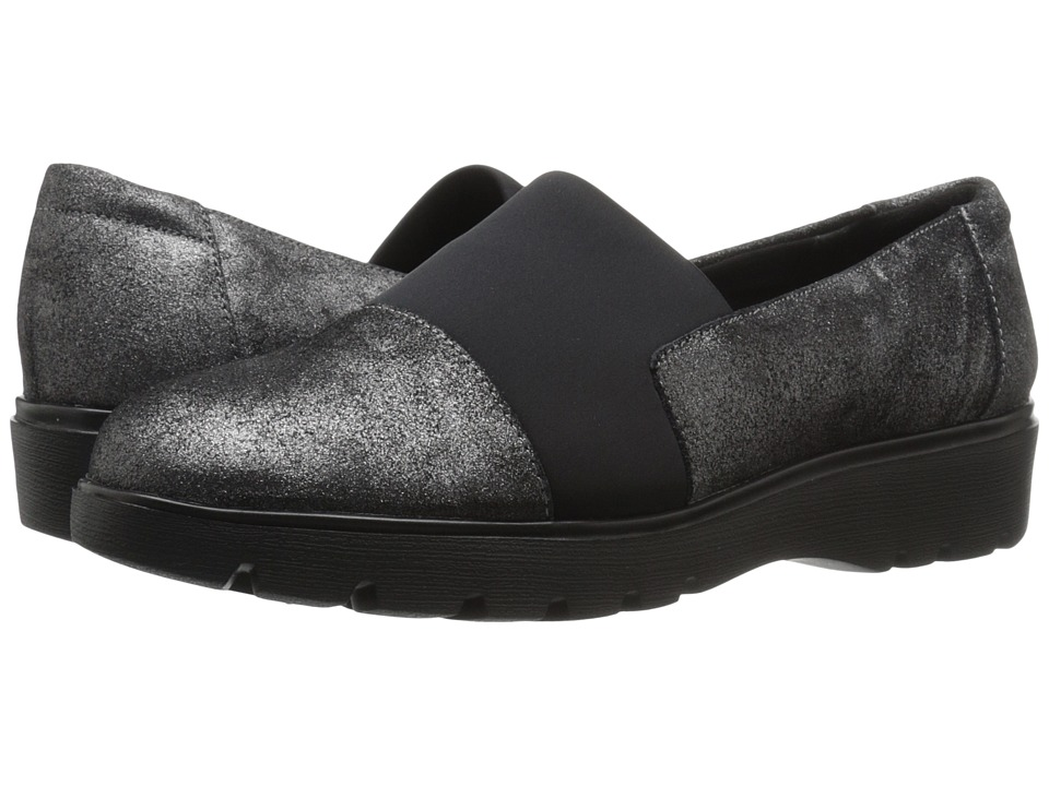 Easy Spirit - Oreen (Pewter/Black Suede) Women's Shoes