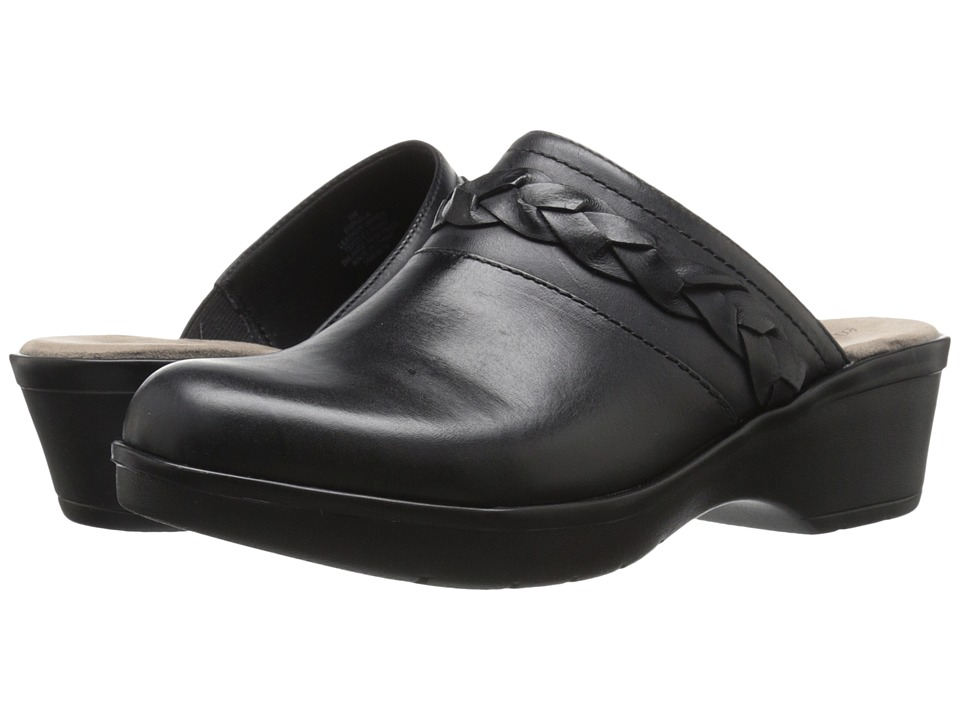 Easy Spirit - Pabla (Black Leather) Women's Shoes