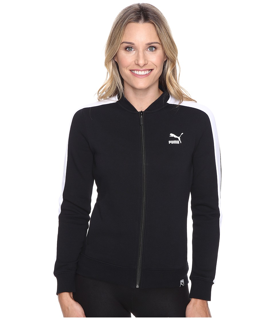 PUMA - T7 Track Jacket (Black) Women's Coat