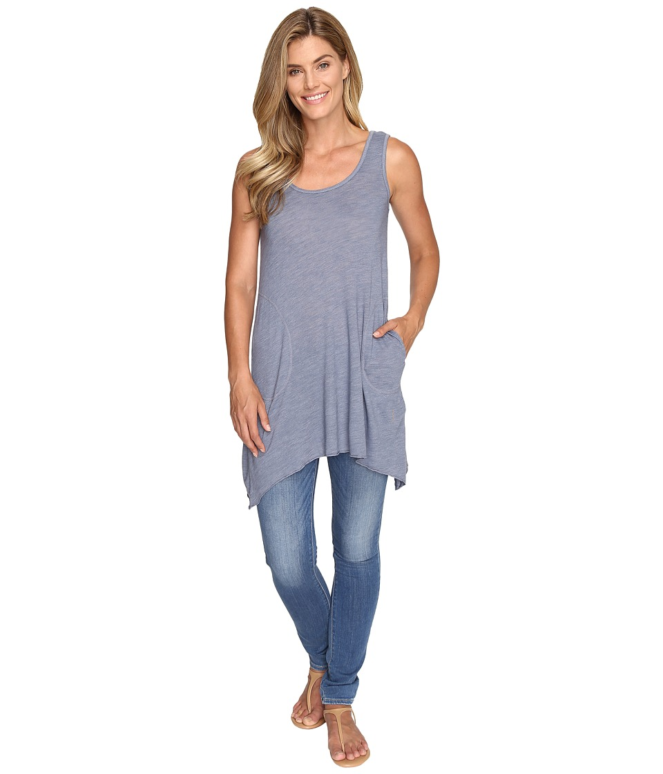 Allen Allen - 2-Pocket Angled Tunic Tank (Blue Haze) Women's Sleeveless