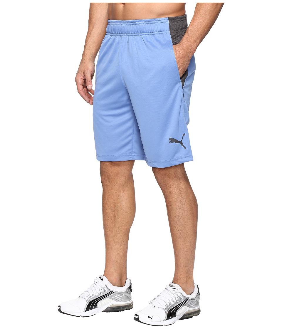 PUMA - Motion Flex Shorts (Blue Yonder/Asphalt) Men's Shorts