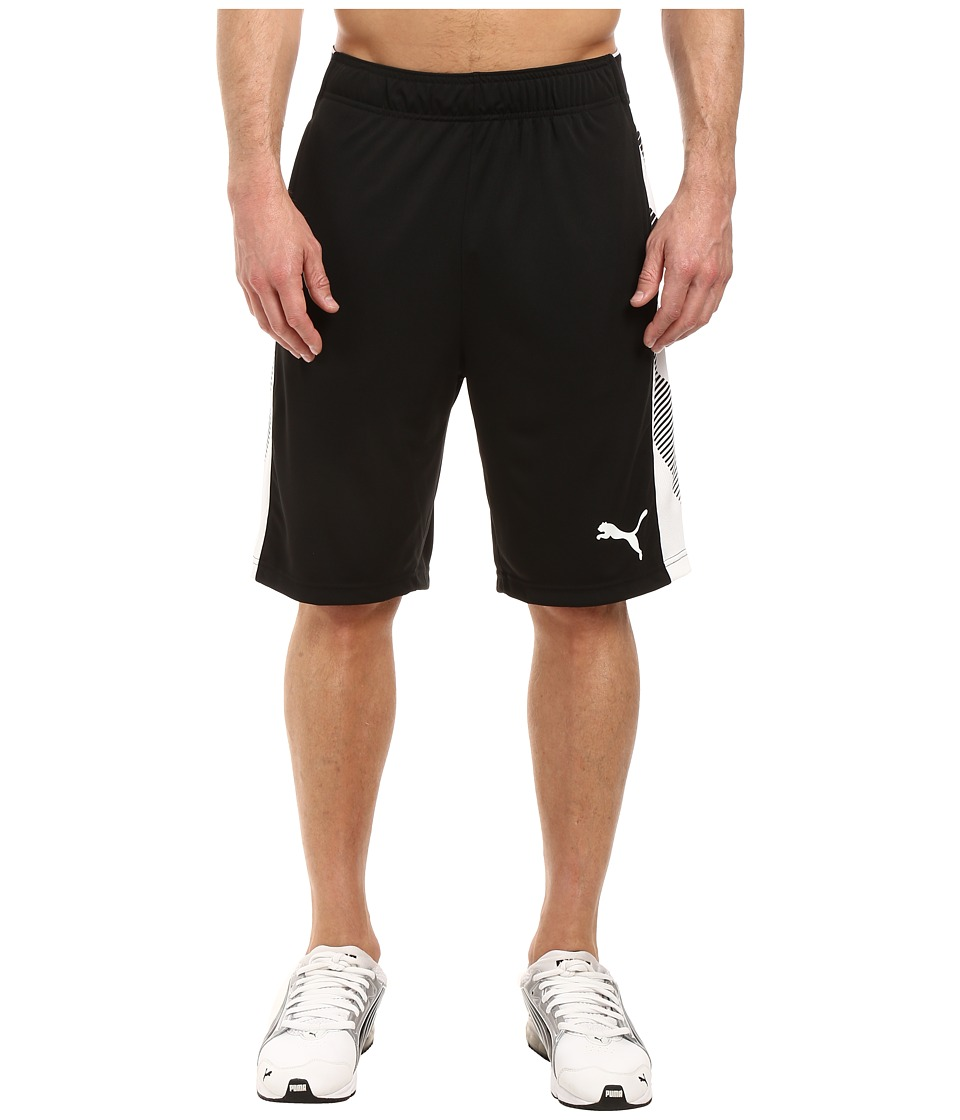 PUMA - Tilted Formstripe Shorts (Puma Black/Puma White) Men's Shorts