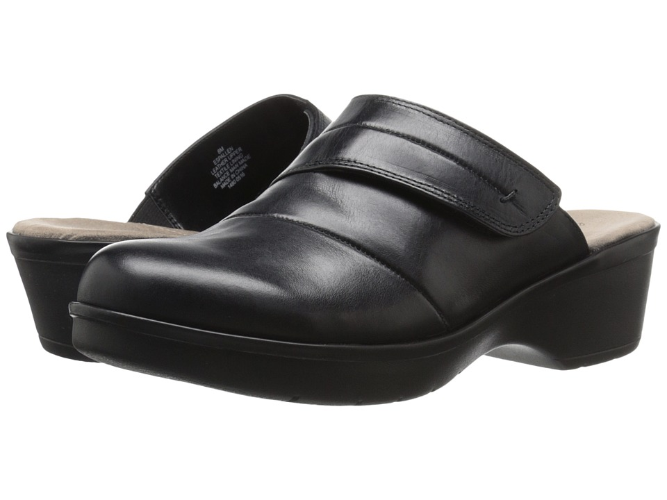 Easy Spirit - Pallen (Black Leather) Women's Shoes