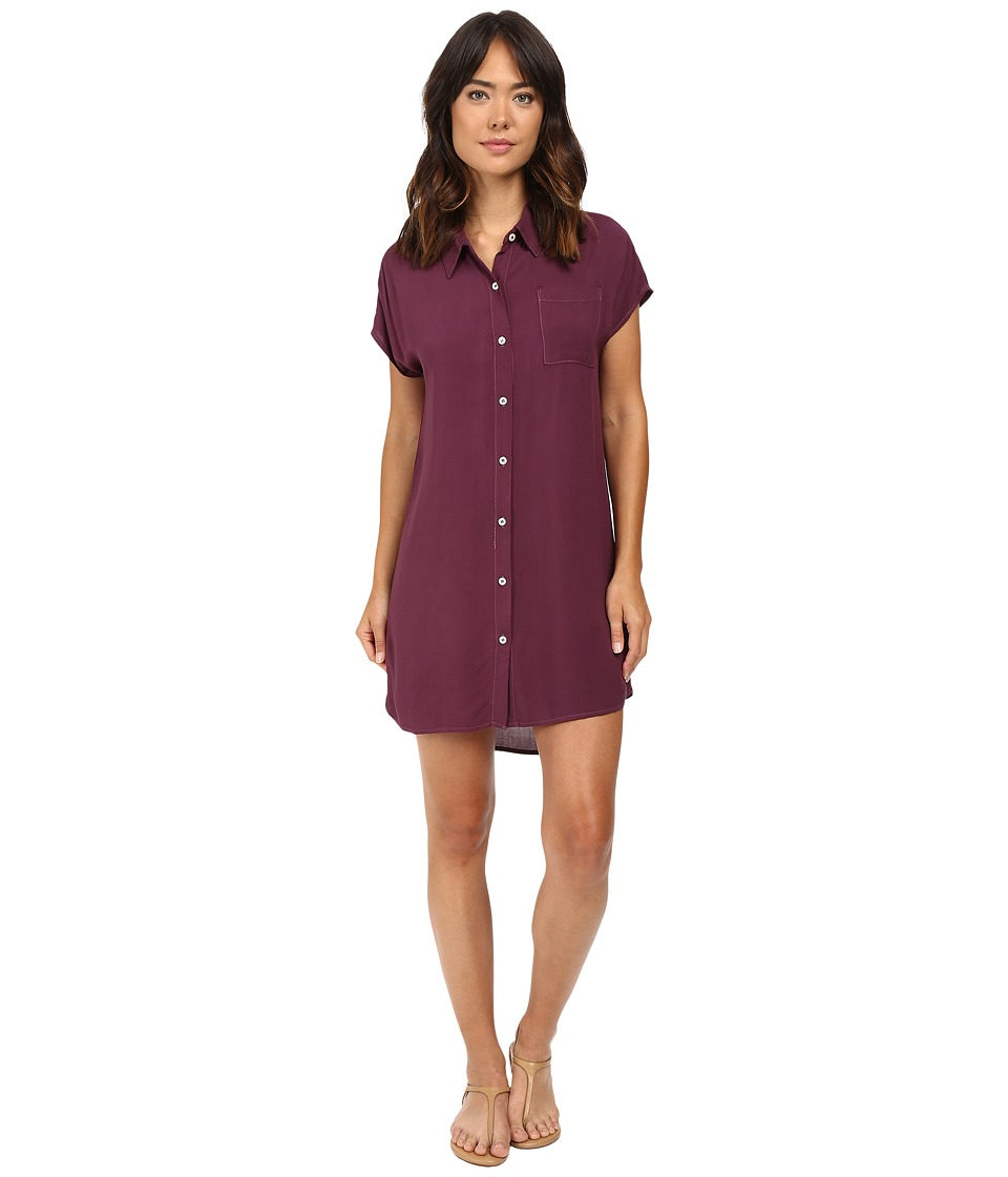 Allen Allen - High-Low Shirtdress (Gwine) Women's Dress