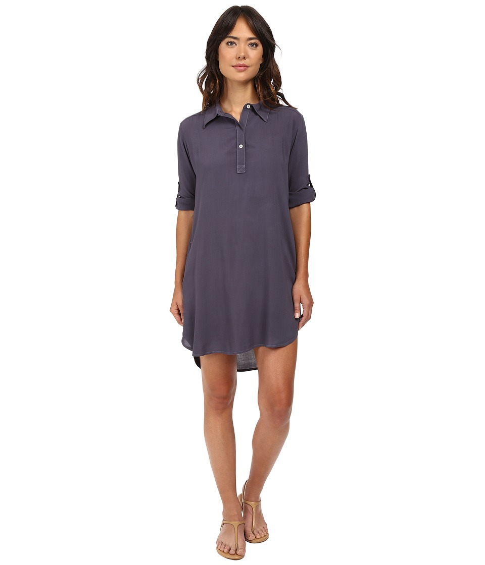 Allen Allen - High-Low Shirtdress (Flint) Women's Dress