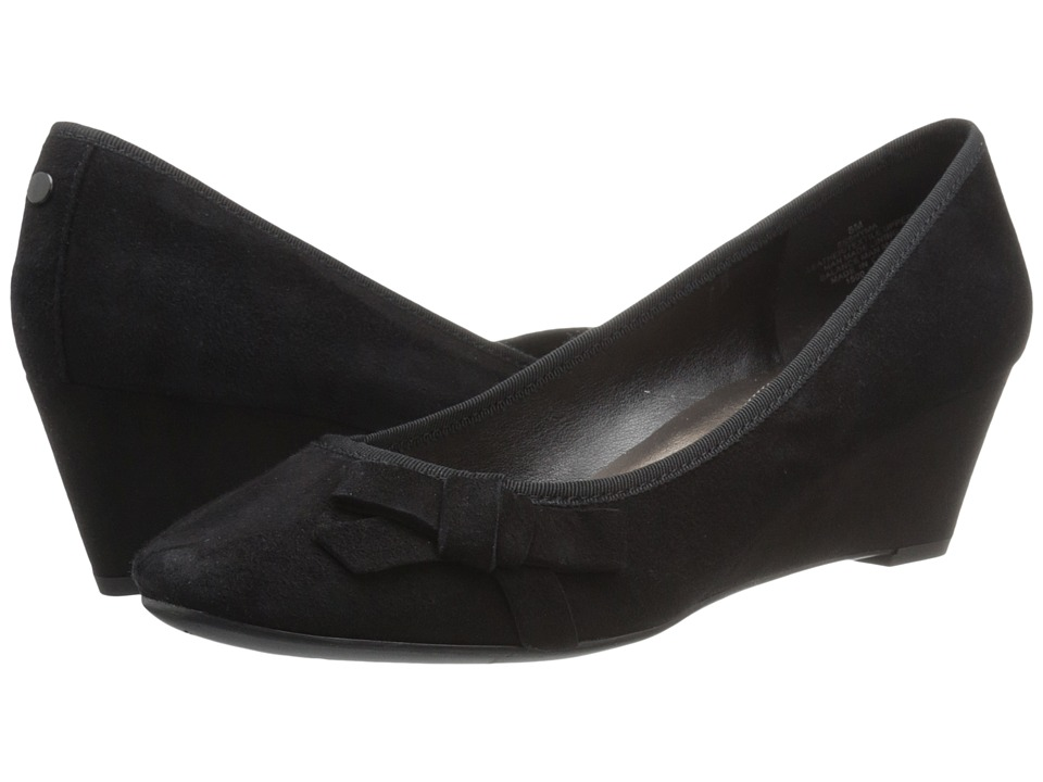 Easy Spirit - Shyma (Black/Black Suede) Women's Shoes