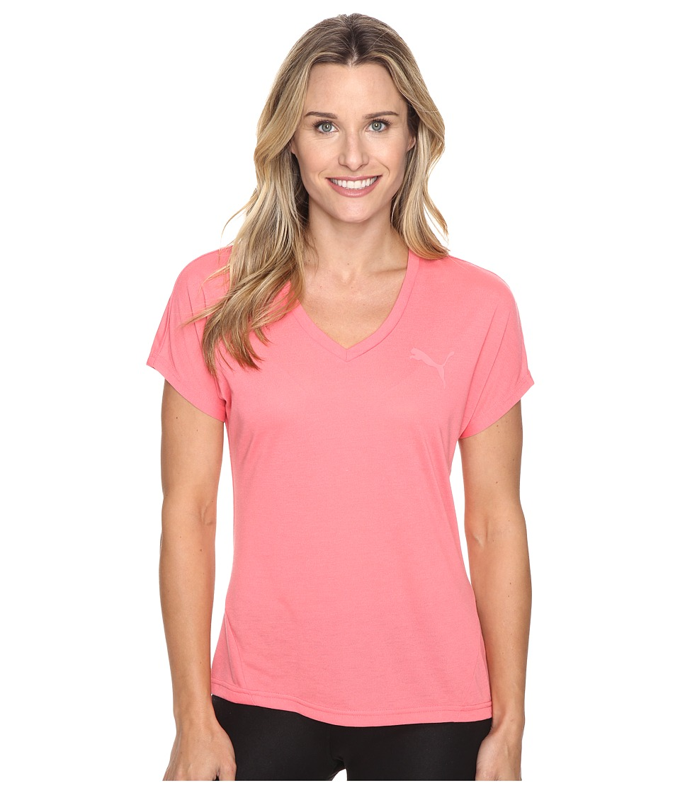 PUMA - Elevated Sporty Tee (Sunkist Coral) Women's T Shirt