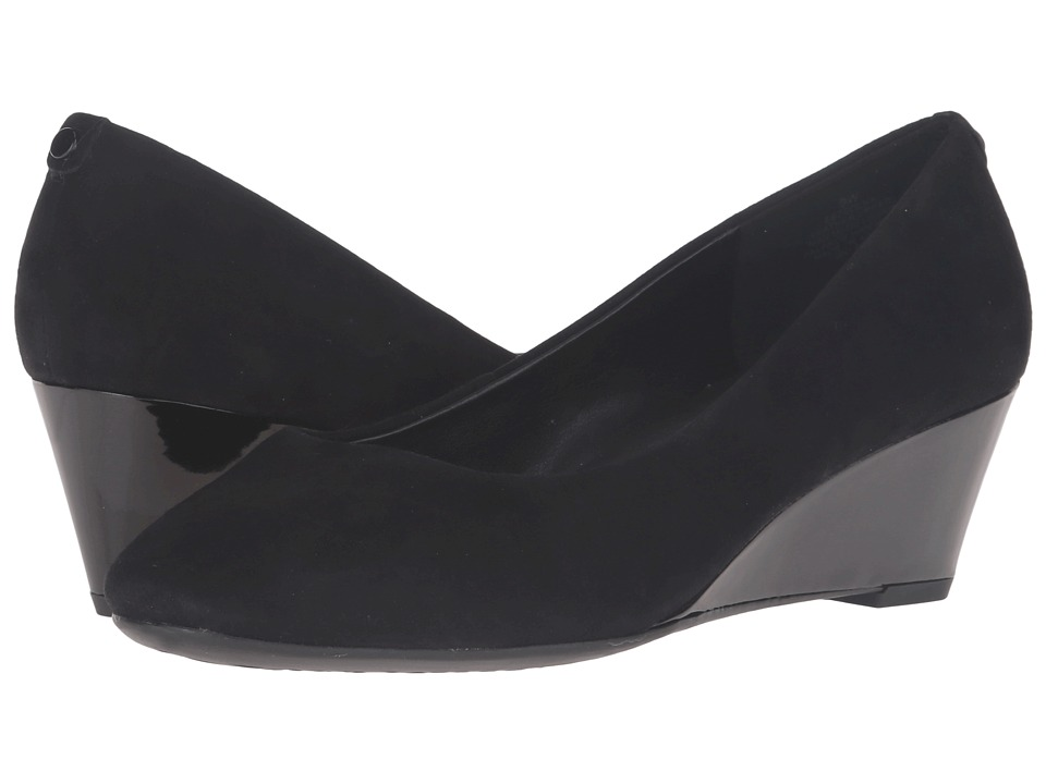 Easy Spirit - Solna (Black Suede) Women's Shoes