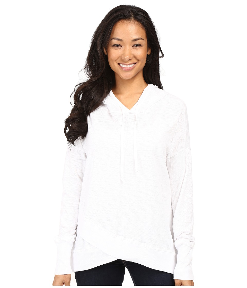Allen Allen - Crossover Kari Hoodie (White) Women's Sweatshirt