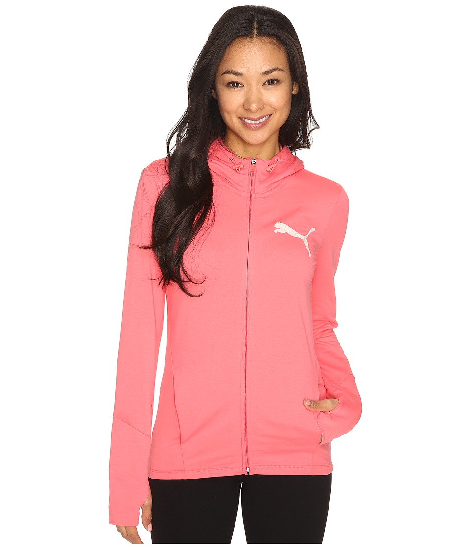 PUMA - Elevated Full Zip Hoodie (Sunkist Coral) Women's Sweatshirt