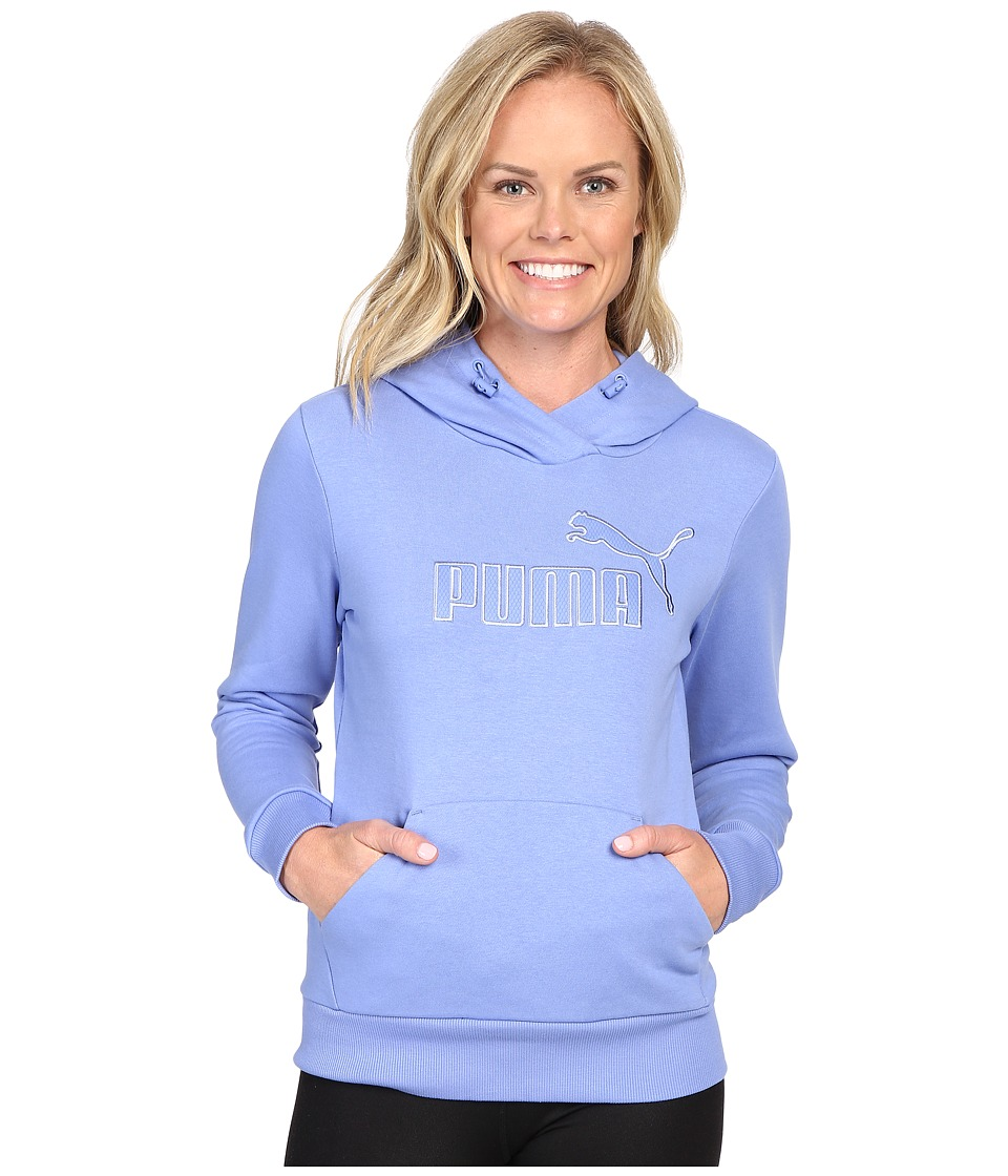 PUMA - Elevated Logo Hoodie (Wedgewood) Women's Sweatshirt