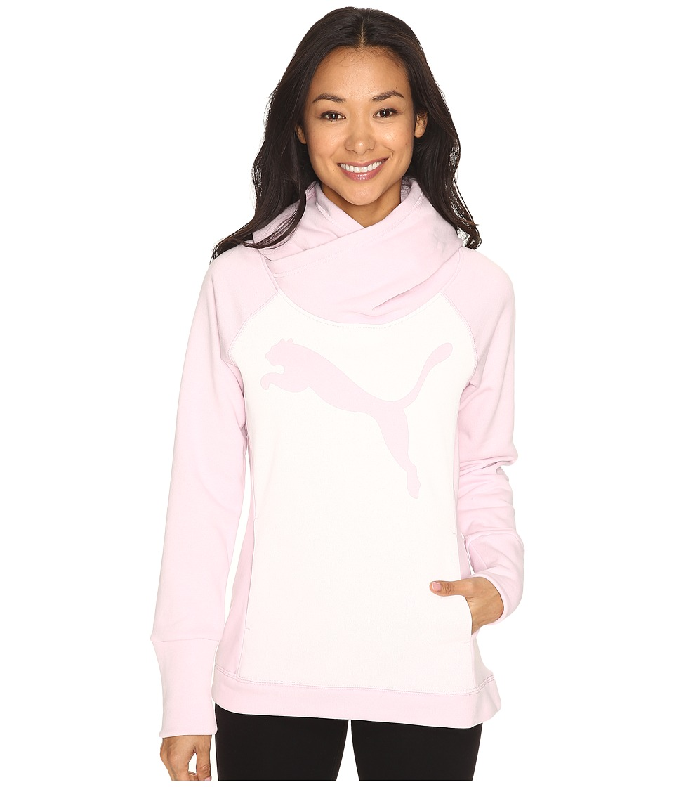 PUMA - Cat Fleece Hoodie (Lilac Snow) Women's Sweatshirt