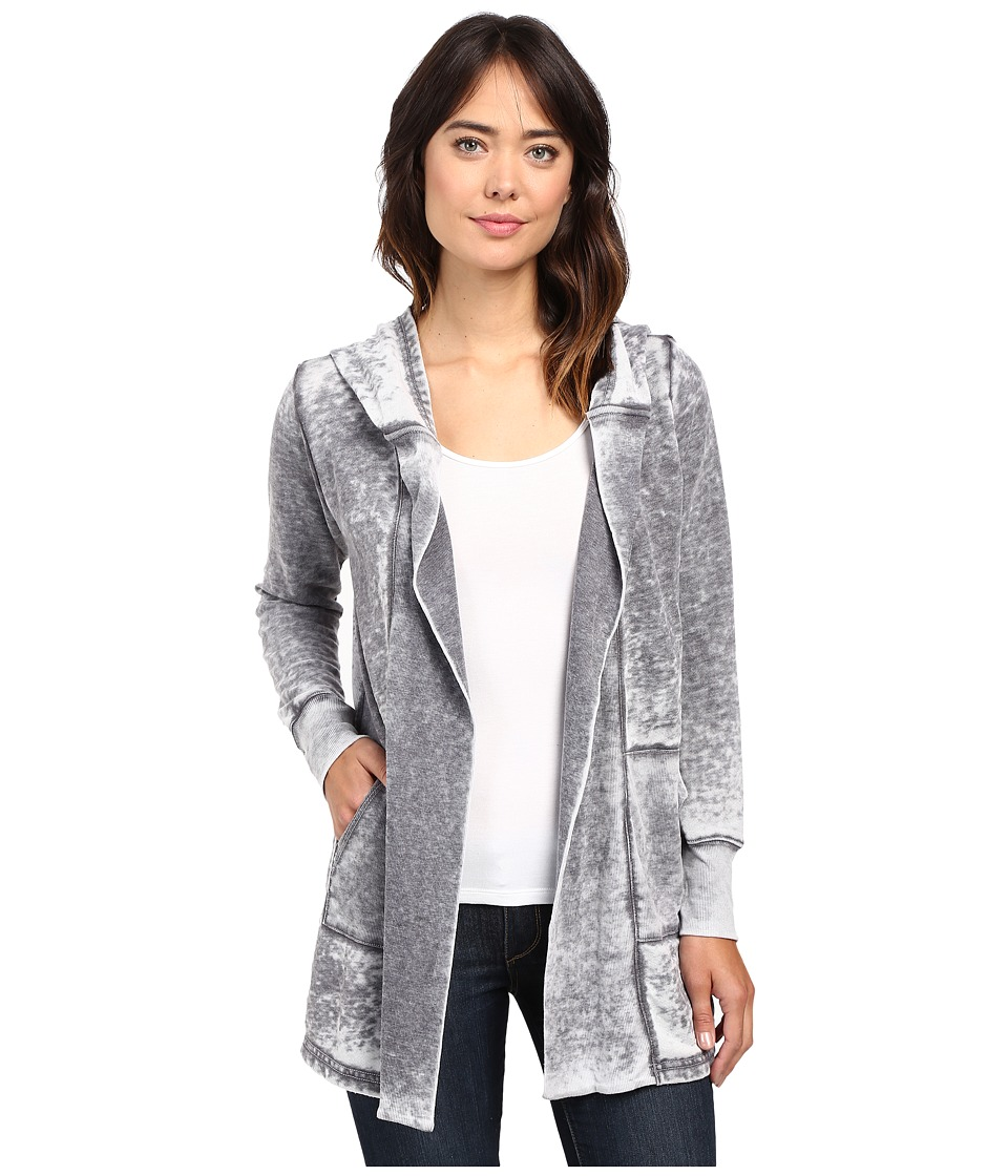 Allen Allen - Open Hooded Cardigan (Deep Grey) Women's Sweater