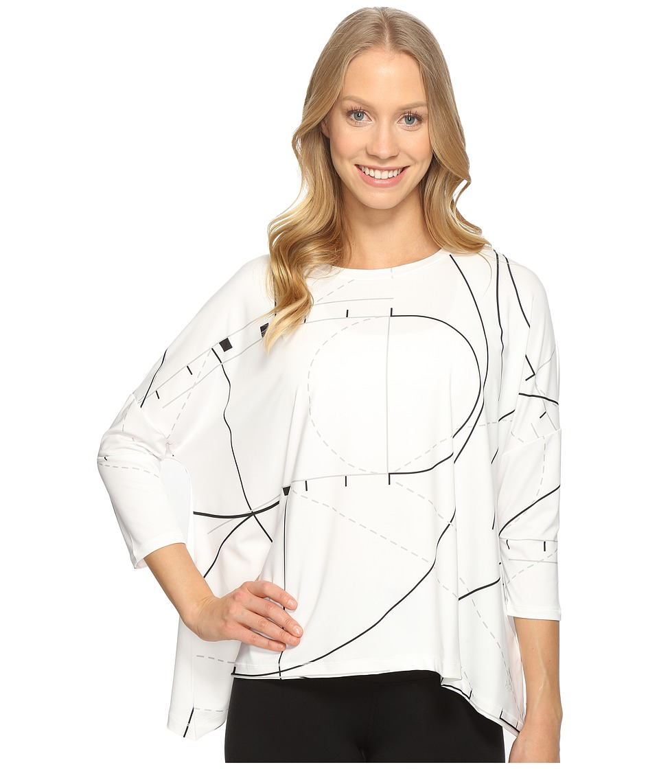 PUMA - Evo Drapy Long Sleeve Top (White) Women's Clothing
