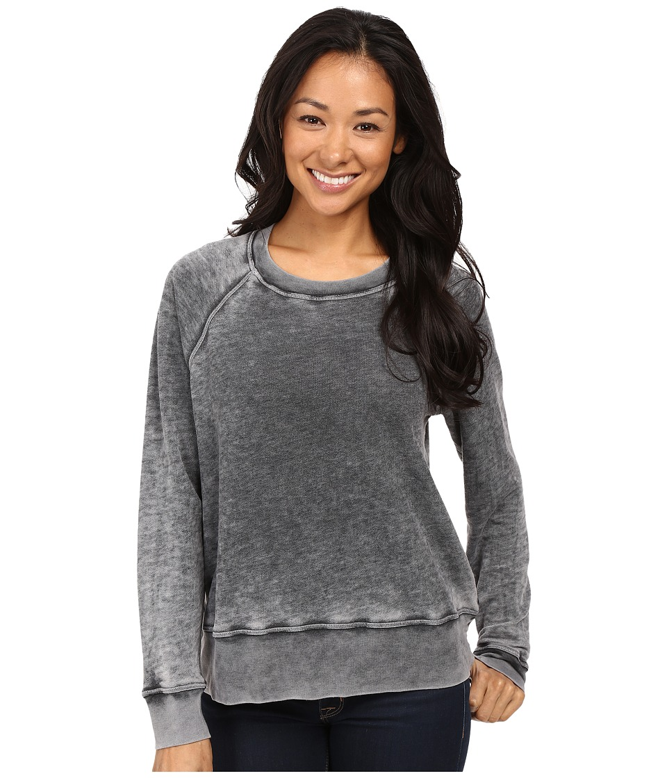 Allen Allen - Long Sleeve Crew Sweatshirt (Black) Women's Sweatshirt