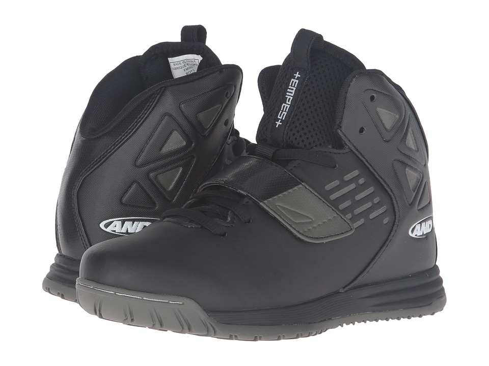 AND1 Kids - Tempest (Little Kid/Big Kid) (Black/Gunmetal/White 1) Boys Shoes