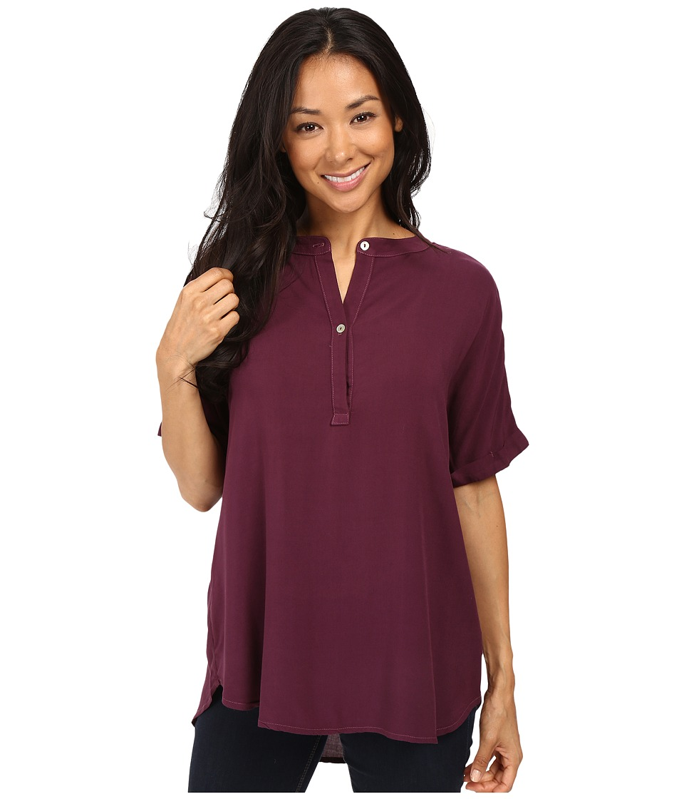 Allen Allen - Tab Collar Henley Shirt (Gwine) Women's Clothing