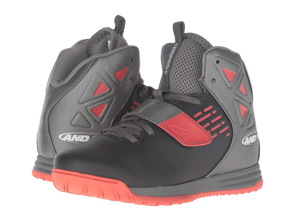 AND1 Kids - Tempest (Little Kid/Big Kid) (Black/Gunmetal/Grenadine 1) Boys Shoes