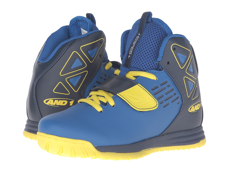 AND1 Kids - Tempest (Little Kid/Big Kid) (Royal/Peacoat/Blazing Yellow) Boys Shoes