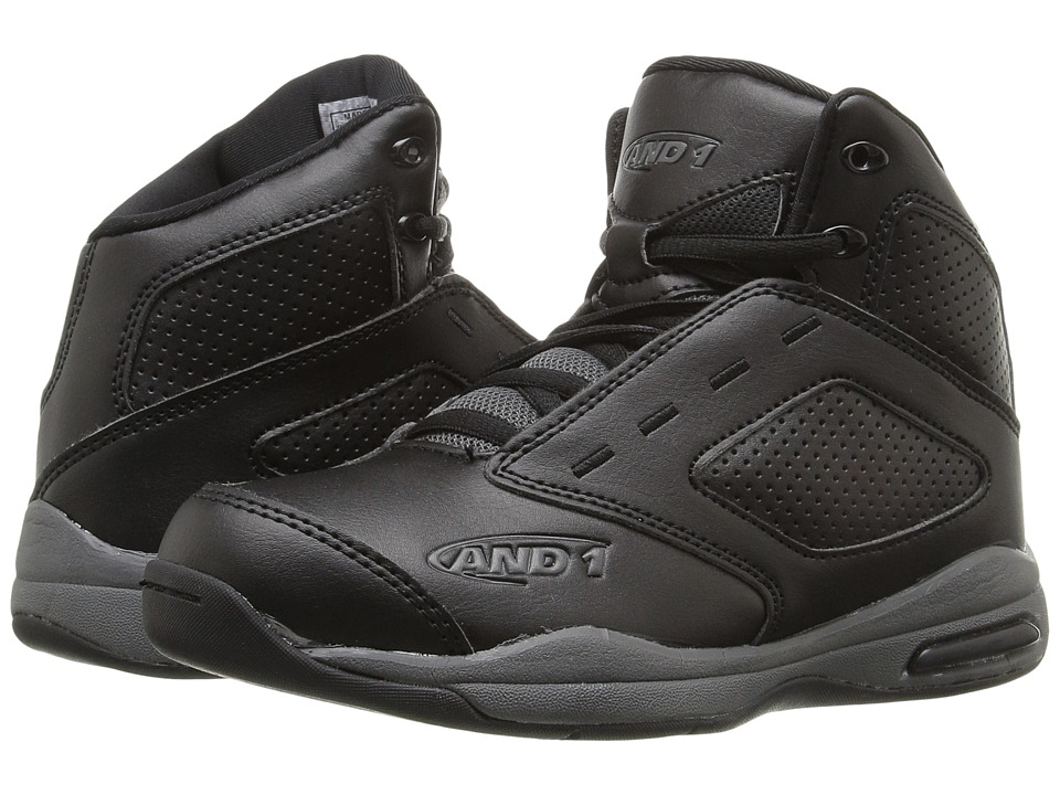 AND1 Kids - Typhoon (Little Kid/Big Kid) (Black/Gunmetal/White 1) Boys Shoes