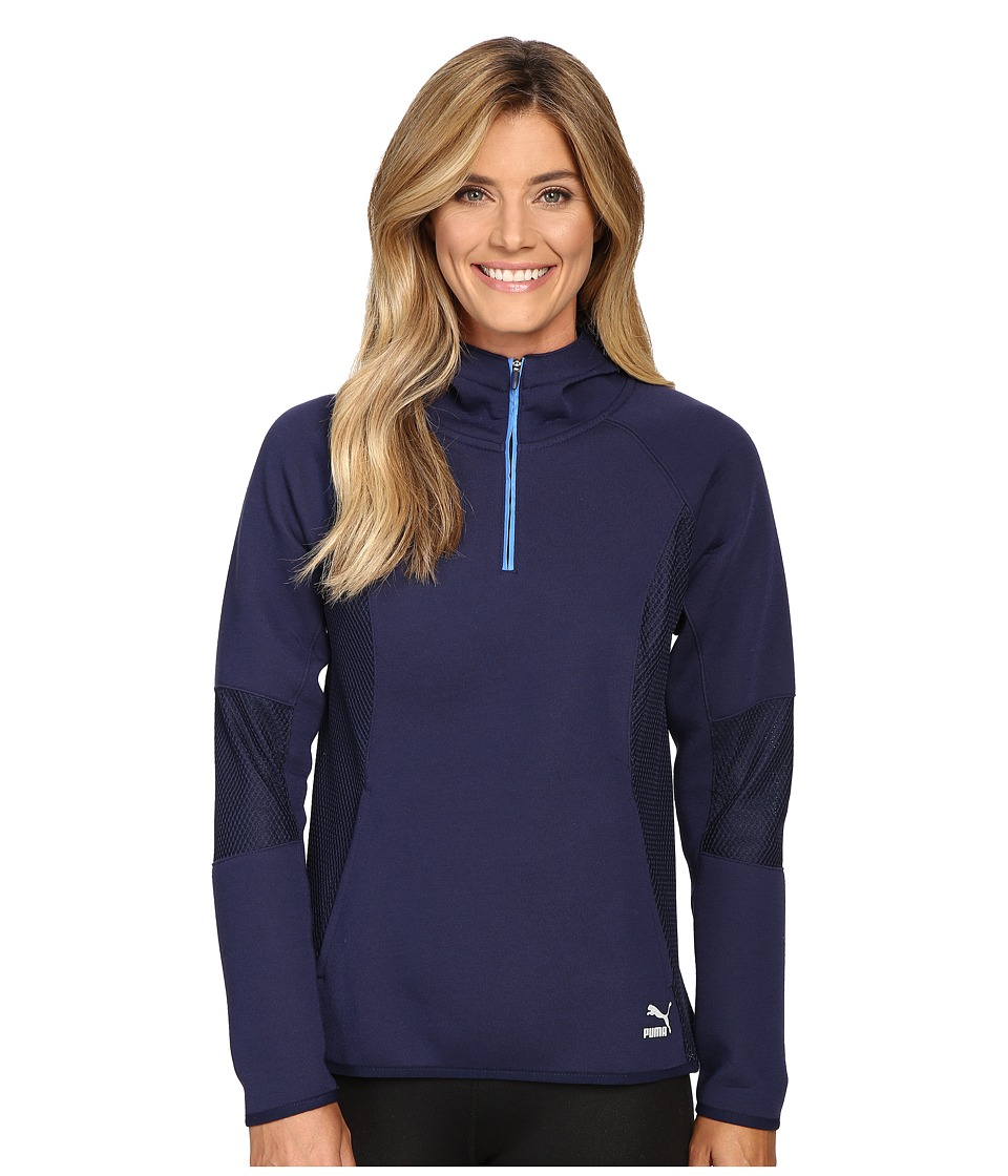 PUMA - Evo 1/2 Zip Hoodie (Peacoat) Women's Sweatshirt