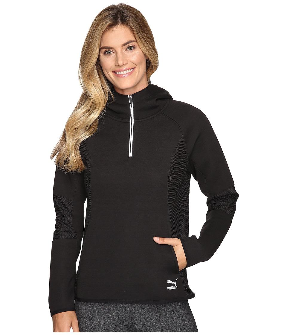 PUMA - Evo 1/2 Zip Hoodie (Black) Women's Sweatshirt