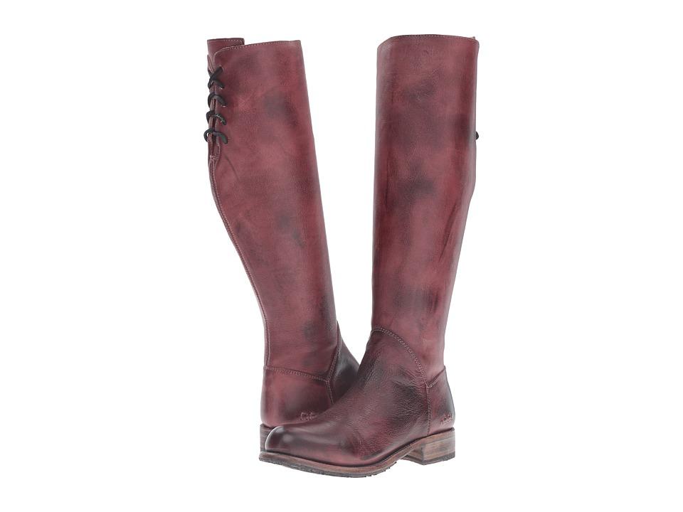 Bed Stu - Manchester (Dark Scarlett Rustic Leather) Women's Zip Boots