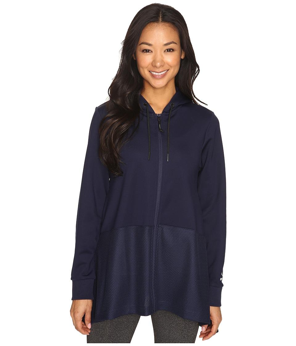 PUMA - Evo Drapy Full Zip Hoodie (Peacoat) Women's Sweatshirt