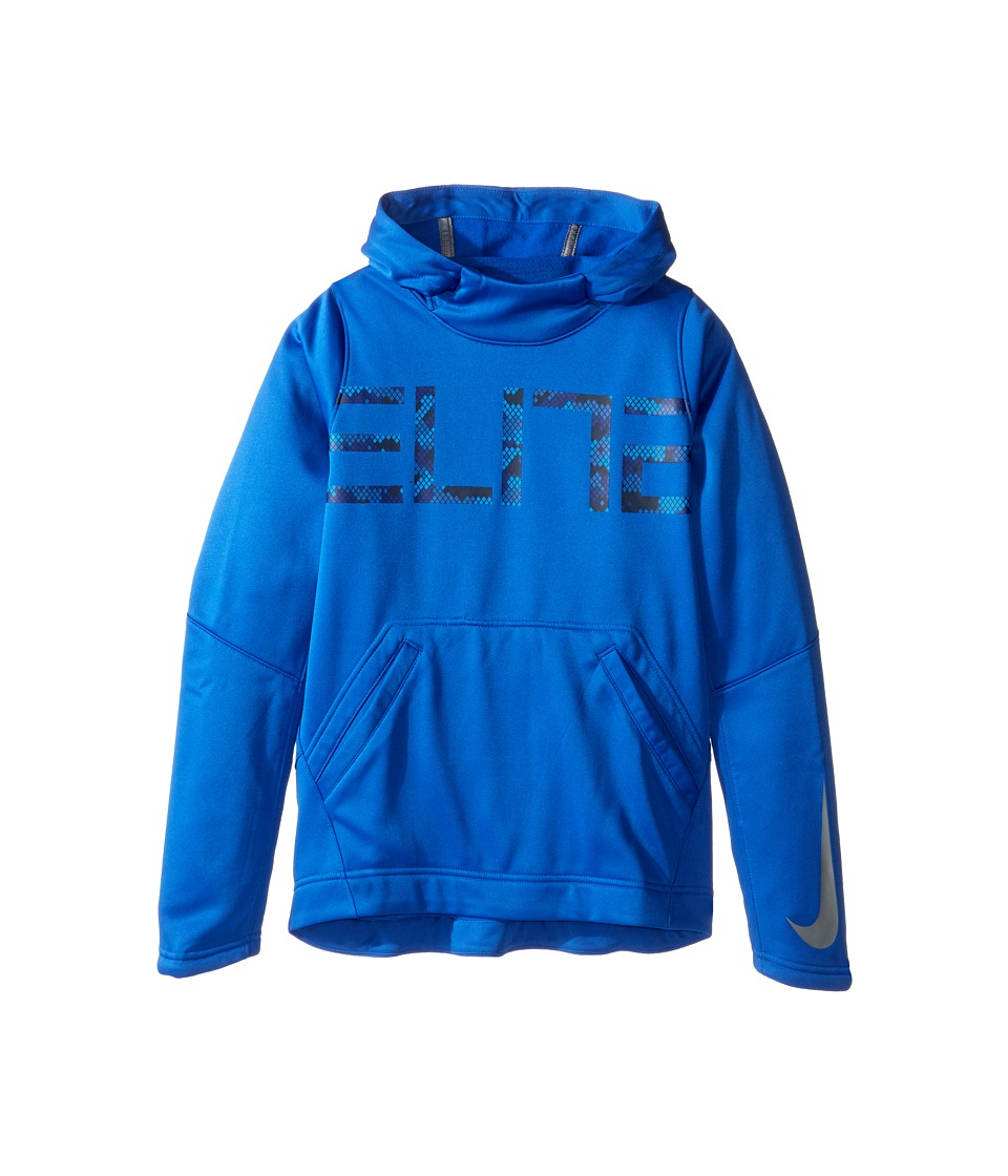 Nike Kids - Elite Pullover Hoodie (Little Kids/Big Kids) (Game Royal/Game Royal/Cool Grey) Boy's Sweater