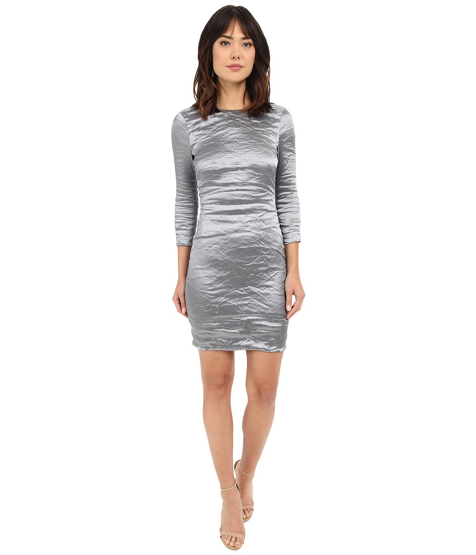 Nicole Miller Mercedes 3-4 Sleeve Techno Metal Starlight Dress