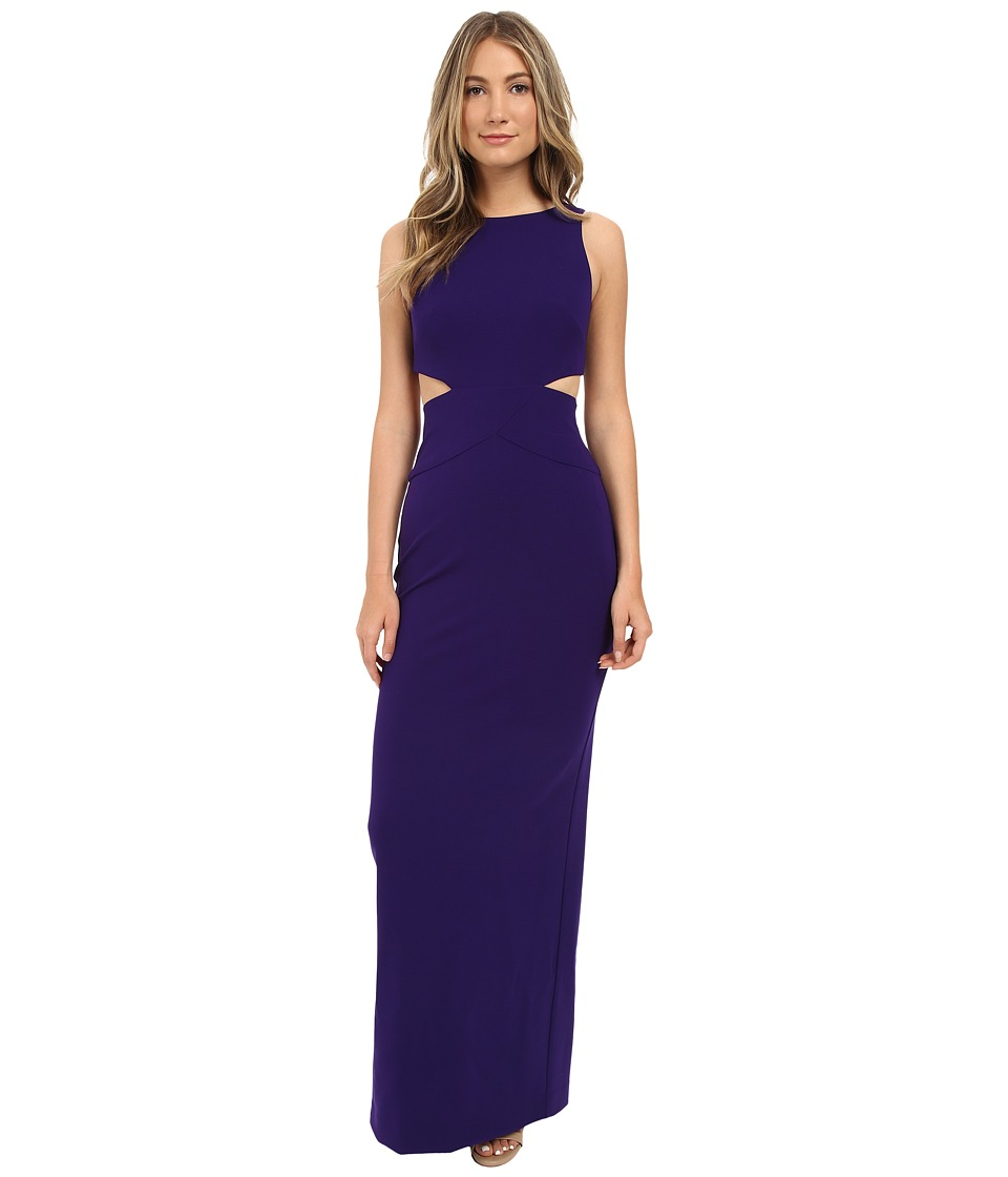 Nicole Miller Aria Cutout Gown (Majestic Purple) Women