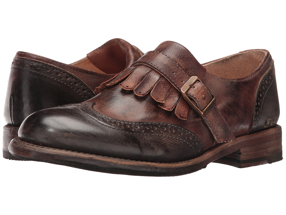 Bed Stu - Dolly (Black Rustic Teak Rustic Rust Leather) Women's Slip on Shoes