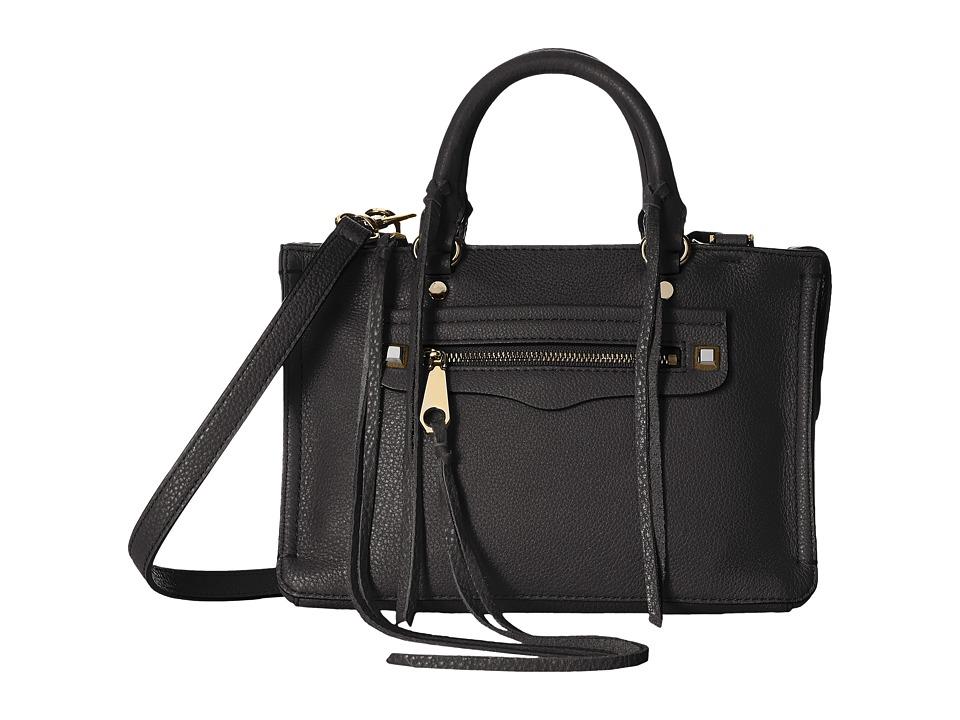 Rebecca Minkoff - Micro Regan Satchel (Black) Satchel Handbags