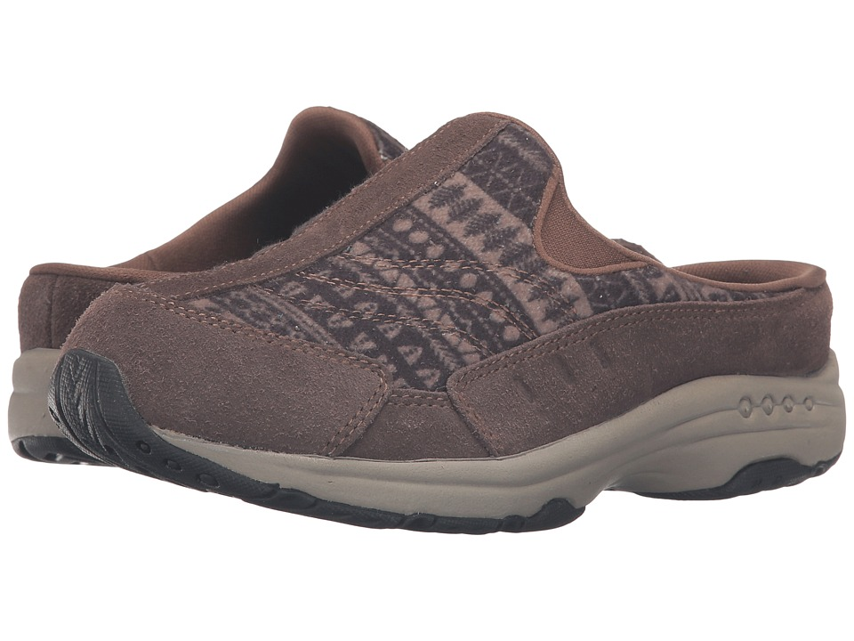 Easy Spirit - Traveltime 224 (Medium Brown/Black Multi Suede) Women's Shoes