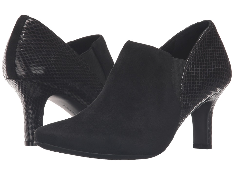 Rockport - Sharna Twin Gore (Black Micro Suede) High Heels