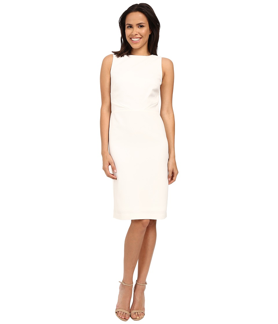 Nicole Miller Blanche Techy Back Detail Dress (White) Women