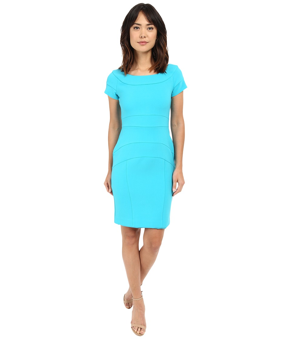 Nicole Miller Karina Stretchy Tech Dress (Aqua) Women