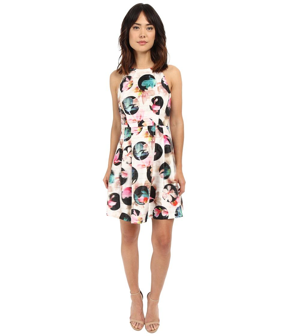 Nicole Miller - Gwen 3D Flower Dot Flare Dress (Multi) Women's Dress