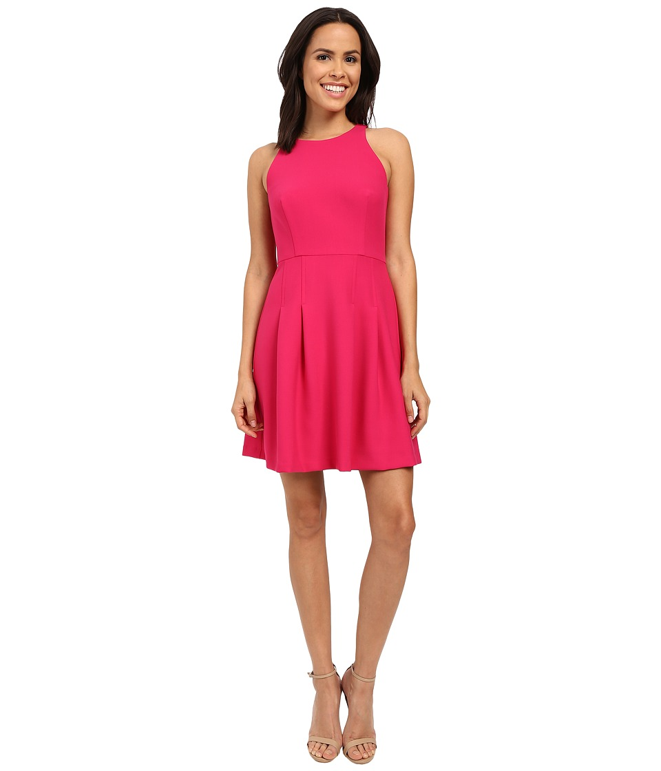 Nicole Miller Gwen Stretchy Tech Flare Dress (Very Berry) Women