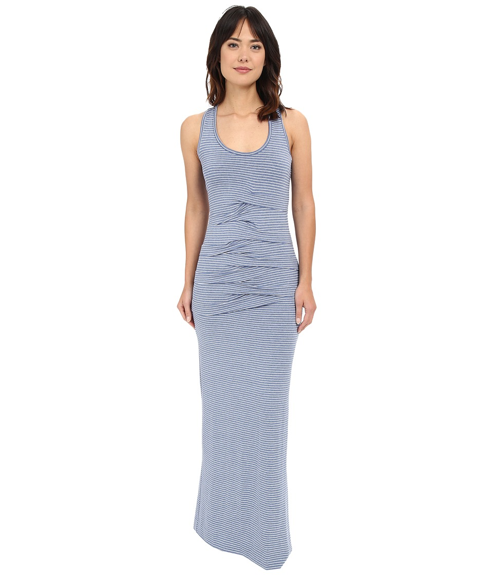 Nicole Miller - Light Stripe Vanessa Maxi (Champbray/White) Women's Dress
