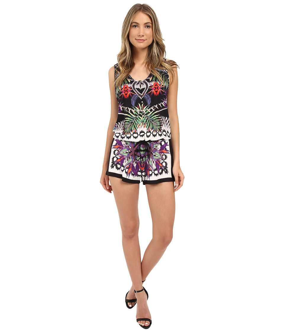 Nicole Miller - Tribal Mystic La Plage Romper (Multi) Women's Jumpsuit & Rompers One Piece