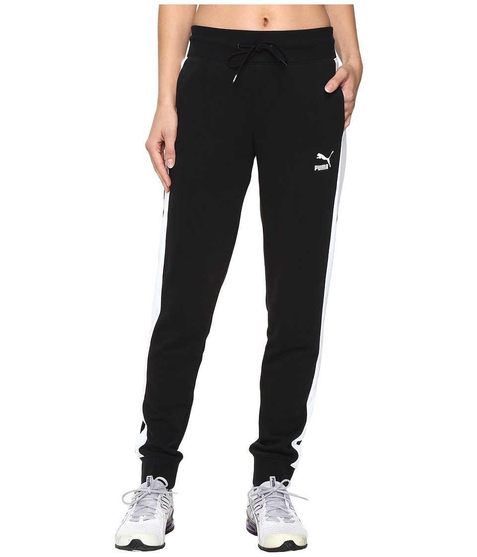 PUMA - T7 Sweatpants (Black) Women's Casual Pants