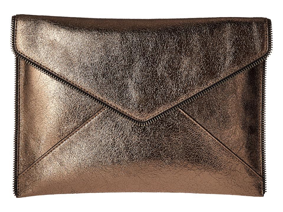 Rebecca Minkoff - Leo Clutch (Metallic Anthrocite) Clutch Handbags