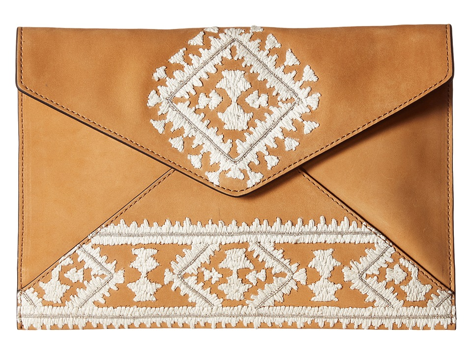 Rebecca Minkoff - Leo Clutch (Almond) Clutch Handbags