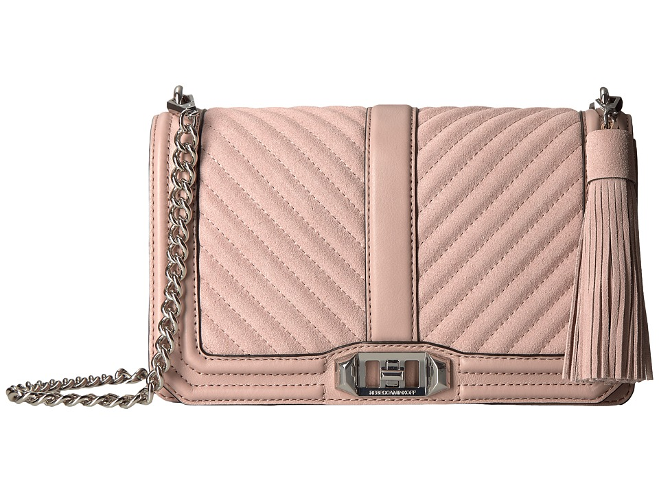 Rebecca Minkoff - Love Crossbody with Tassel (Vintage Pink) Cross Body Handbags