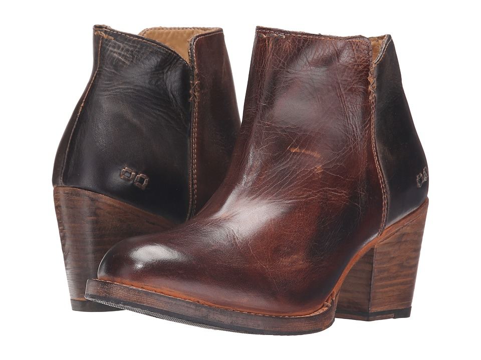 Bed Stu - Yell (Teak Black Rustic Rust Leather) Women's Boots