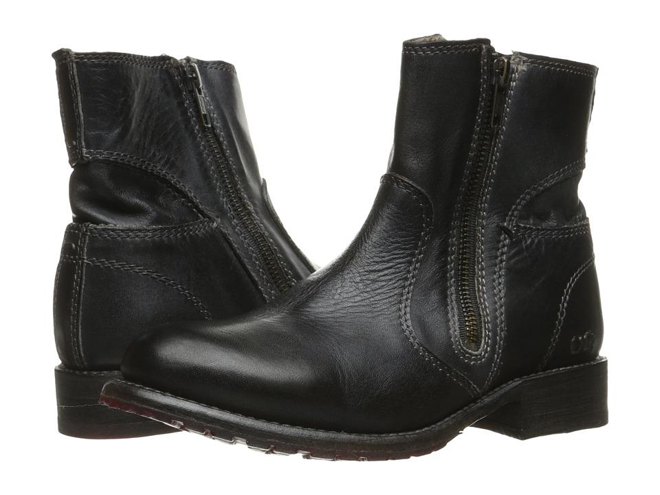 Bed Stu - Eiffel (Black Rustic/Blue Leather) Women's Zip Boots
